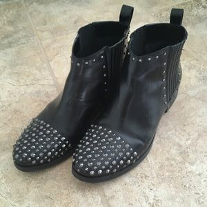 Black Studded Moto Chelsea Boots from Kenneth Cole